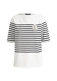 Ralph Lauren Striped Bullion Jersey Top