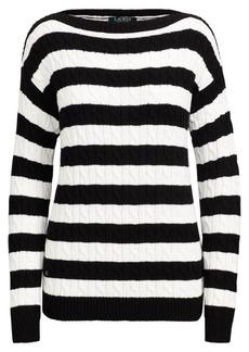 Ralph Lauren Striped Cable Cotton Sweater
