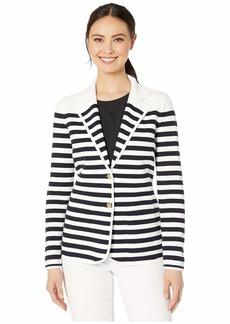 Ralph Lauren Striped Cotton-Blend Blazer