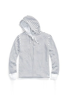 Ralph Lauren Striped Cotton-Blend Hoodie