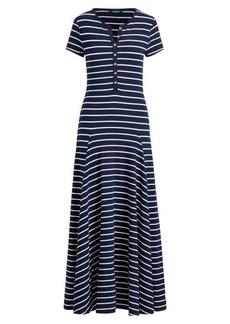 Striped Cotton-Blend Maxidress