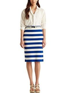Ralph Lauren Striped Cotton-Blend Skirt