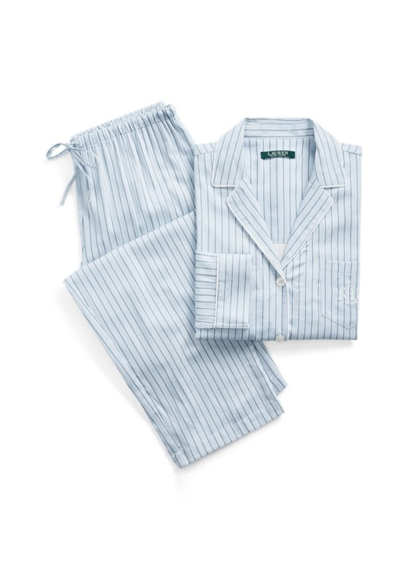Ralph Lauren Striped Cotton-Blend Sleep Set