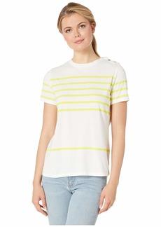 Ralph Lauren Striped Cotton-Blend Top