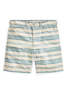 Ralph Lauren Striped Cotton Canvas Short