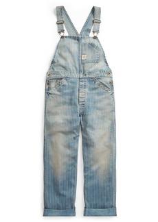 Striped Cotton Denim Overall
