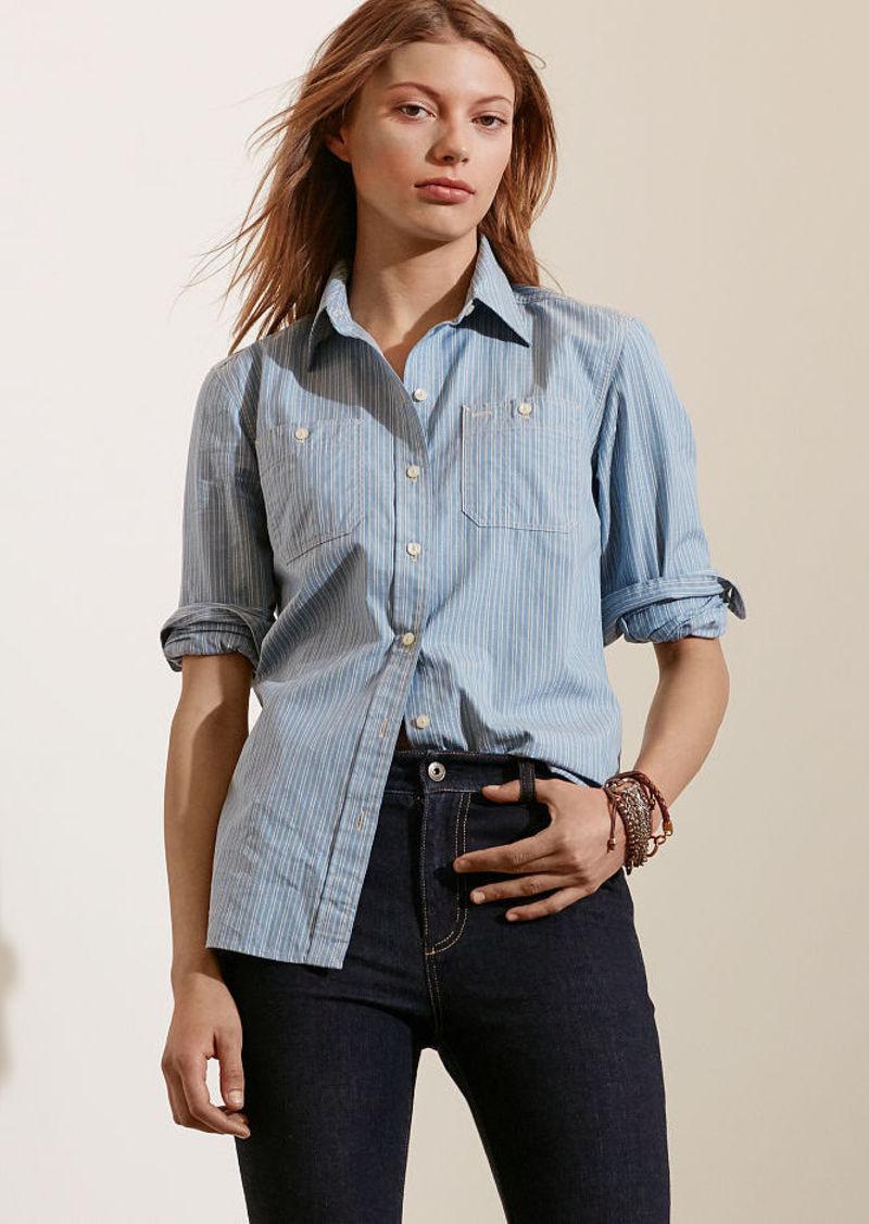 Ralph Lauren Striped Cotton Dobby Shirt