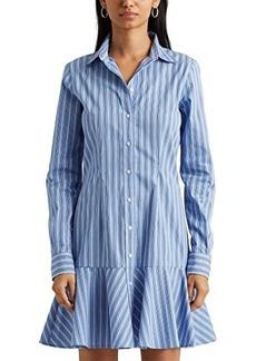 Ralph Lauren Striped Cotton Drop-Waist Shirtdress
