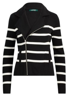 Ralph Lauren Striped Cotton Full-Zip Jacket