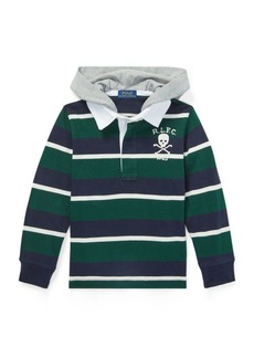 Ralph Lauren Striped Cotton Hooded Rugby