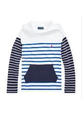Ralph Lauren Striped Cotton Hooded Tee
