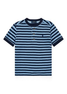 Ralph Lauren Striped Cotton Jersey Henley