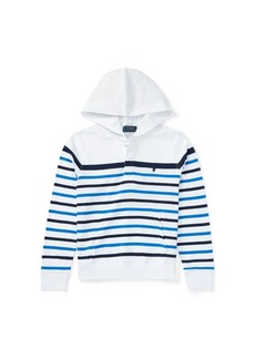 Ralph Lauren Striped Cotton Jersey Hoodie