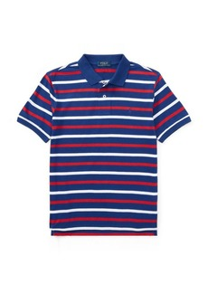 Ralph Lauren Striped Cotton Jersey Polo