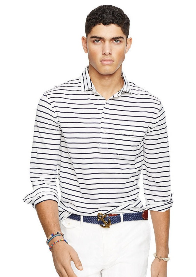Ralph Lauren Striped Cotton Jersey Popover