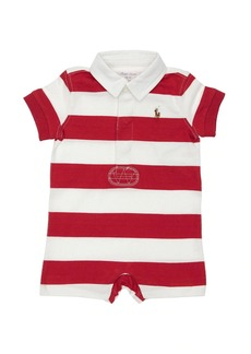Ralph Lauren Striped Cotton Jersey Romper