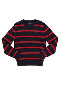 Ralph Lauren Striped Cotton Knit Sweater