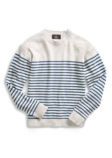 Ralph Lauren Striped Cotton-Linen Sweater