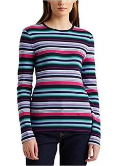 Ralph Lauren Striped Cotton Long Sleeve Top