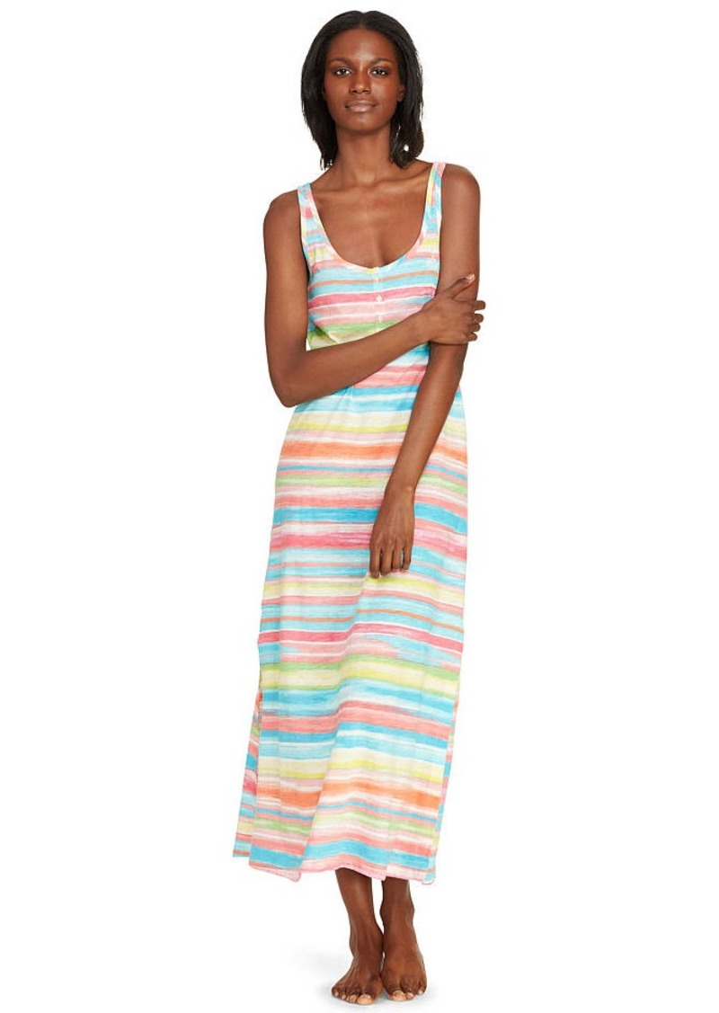 Ralph Lauren Striped Cotton Maxi Nightgown