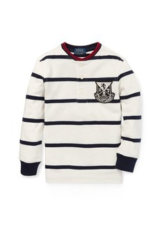 Ralph Lauren Striped Cotton Mesh Henley