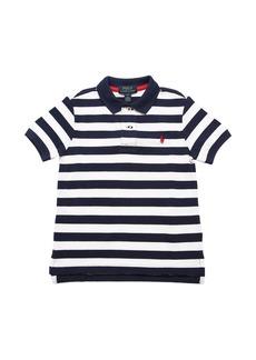 Ralph Lauren Striped Cotton Piquet Polo Shirt