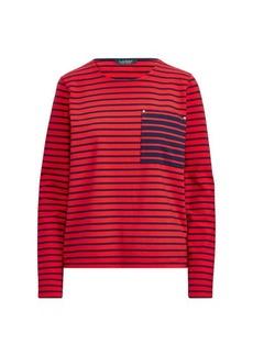Ralph Lauren Striped Cotton Pocket T-Shirt