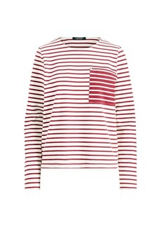Ralph Lauren Striped Cotton Pocket T-Shirt