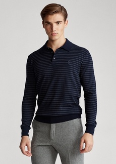 Ralph Lauren Striped Cotton Polo Sweater