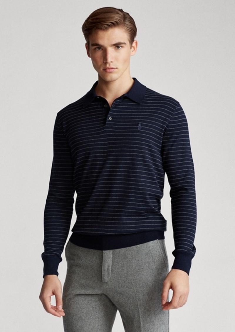 Ralph Lauren Striped Cotton Polo Sweater