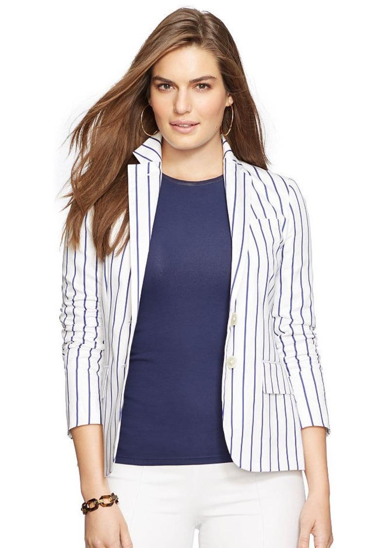 Ralph Lauren Striped Cotton-Silk Jacket