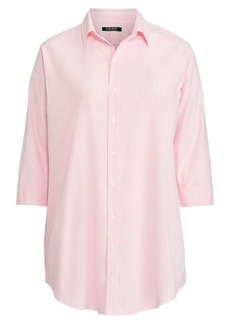 Ralph Lauren Striped Cotton Sleep Shirt