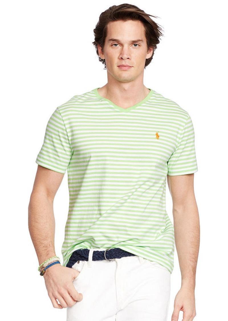 Ralph Lauren Striped Cotton V-Neck T-Shirt