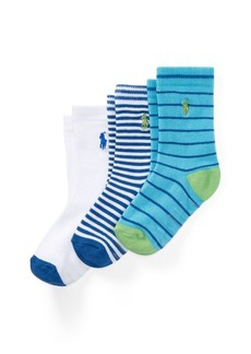 Ralph Lauren Striped Crew Sock 3-Pack