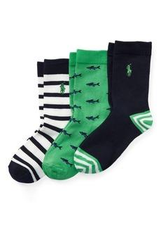 Ralph Lauren Striped Crew Sock 3-Pack