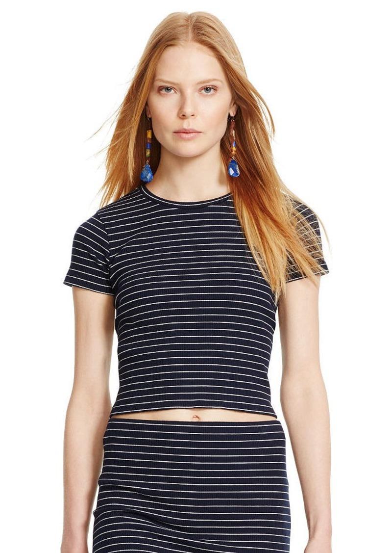 Ralph Lauren Striped Cropped Crewneck Shirt