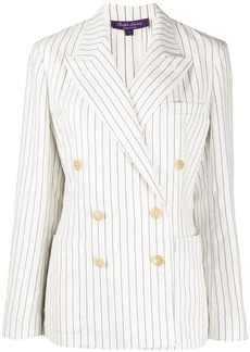 Ralph Lauren striped double-breasted blazer jacket