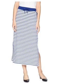 Ralph Lauren Striped French Terry Maxi Skirt