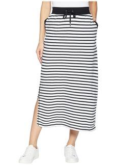 Ralph Lauren Striped French Terry Maxi Skirt
