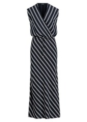 Ralph Lauren Striped Georgette Maxidress