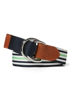 Ralph Lauren Striped Grosgrain Belt