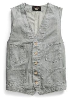 Ralph Lauren Striped Indigo Cotton Vest