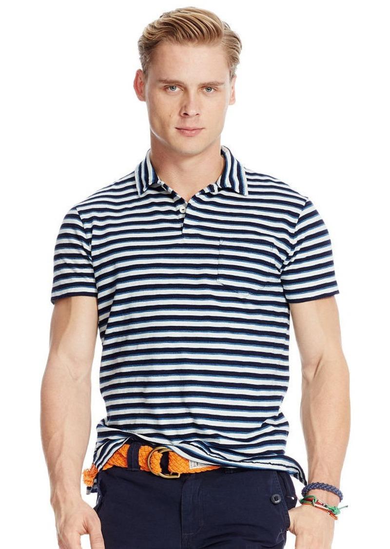 Ralph Lauren Striped Indigo Jersey Polo