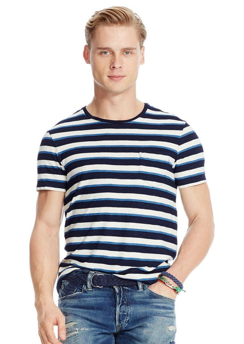 Ralph Lauren Striped Indigo Jersey T-Shirt