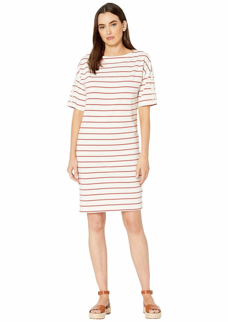 Ralph Lauren Striped Jersey Boat Neck Dress