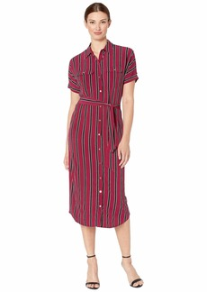 Ralph Lauren Striped Jersey Maxi Shirtdress