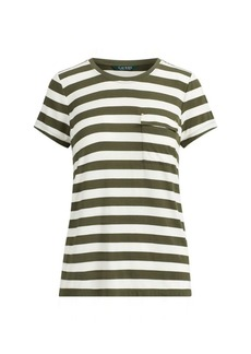 Ralph Lauren Striped Jersey Pocket T-Shirt