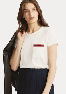 Ralph Lauren Striped Jersey Pocket Tee