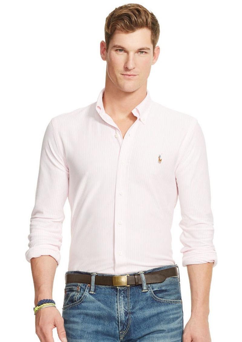 Ralph Lauren Striped Knit Oxford Shirt