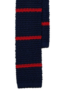 Ralph Lauren Striped Knit Silk Tie